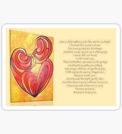 """Signposts Saying """"Happiness"""" Greeting Card Sticker"""