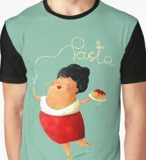 Spaghetti Pasta Lady Graphic T-Shirt