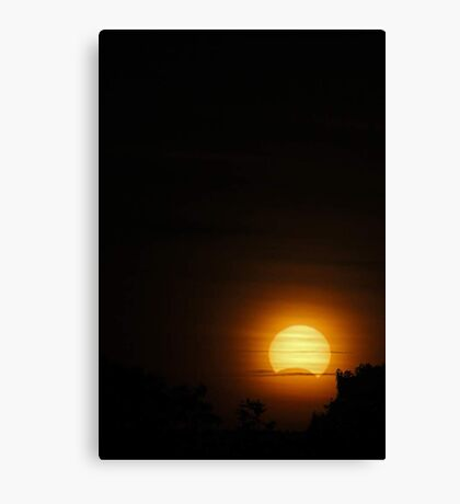 Solar Eclipse - November 14 2012  Canvas Print