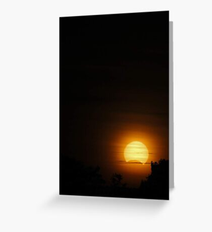 Solar Eclipse - November 14 2012  Greeting Card