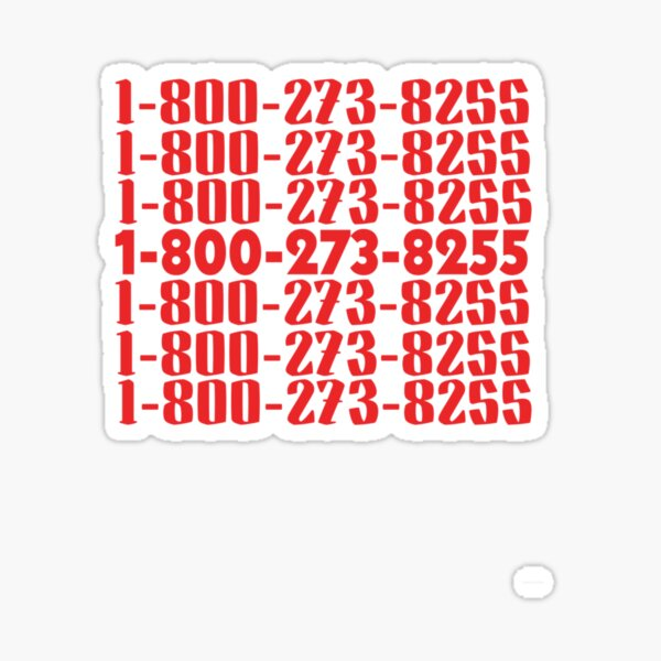 1-800-273-8255 logic everybody Sticker