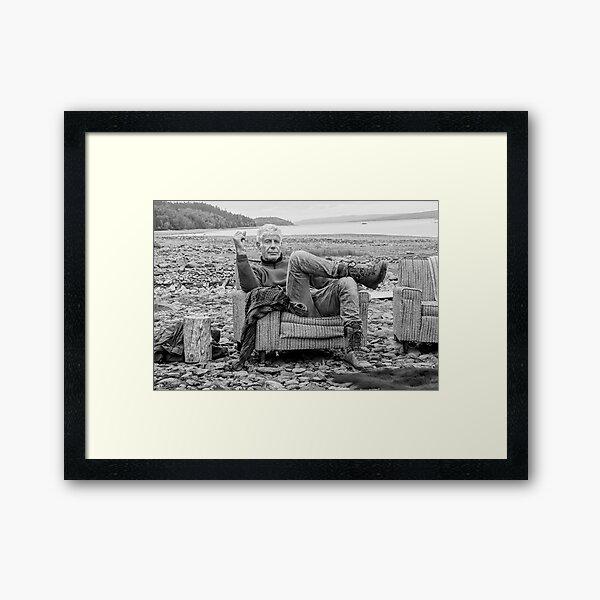 Sea Bourdain Side Framed Art Print