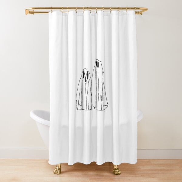 Suburban Gothic Ghosts Shower Curtain