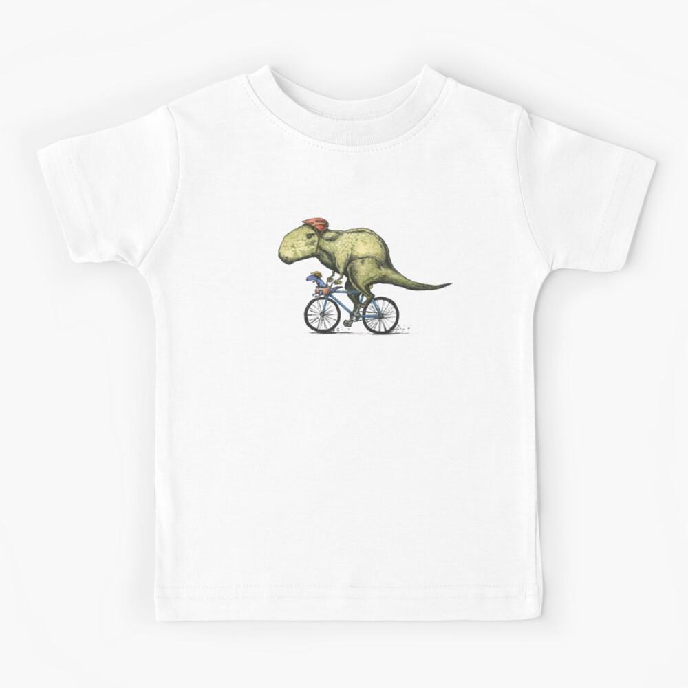 T-rex Bikers, Bicycle Riding Dinosaur Design Kids T-Shirt