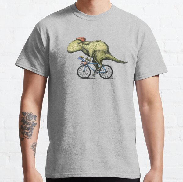 T-rex Bikers, Bicycle Riding Dinosaur Design Classic T-Shirt