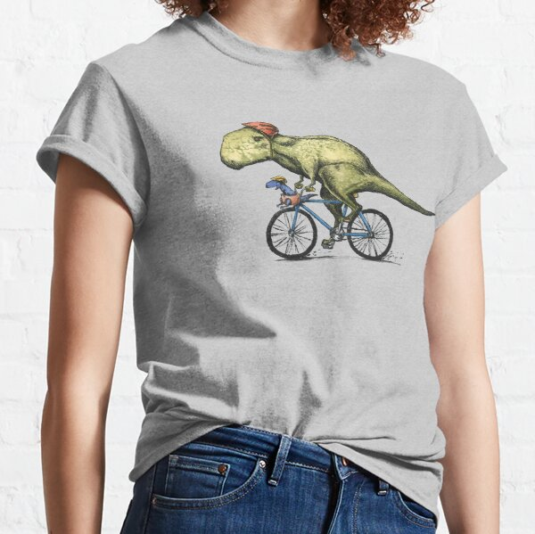 T-rex Bikers, Bicycle Riding Dinosaur Design Classic T-Shirt
