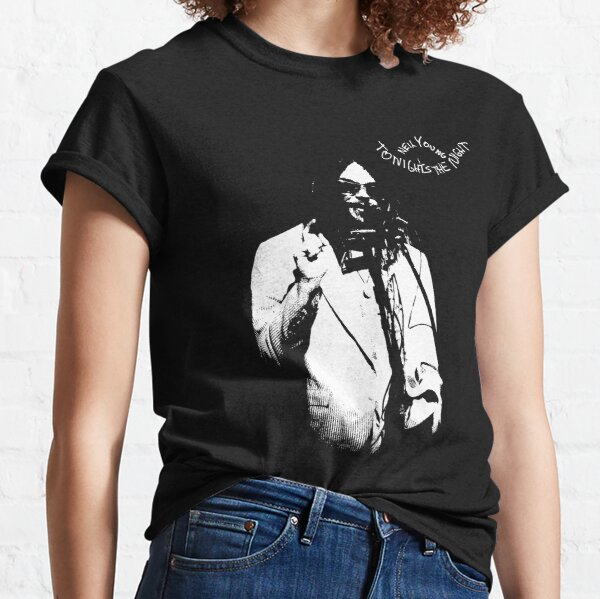 Neil Young-Tonight's the Night-Music,Folk,Rock-Guitar-Grunge Classic T-Shirt