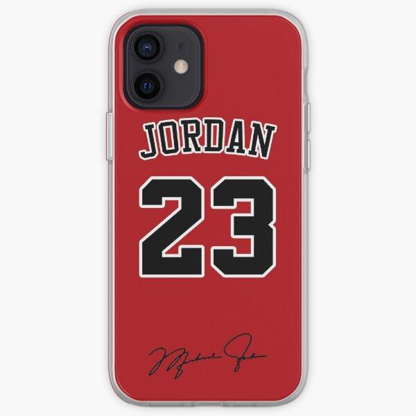 Michael Jordan avec 23 numéro RED Coque souple iPhone