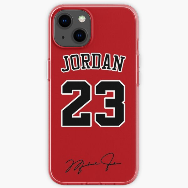 Michael Jordan with 23 Number RED iPhone Soft Case