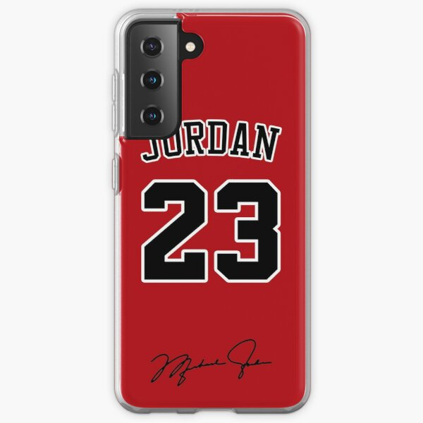 Michael Jordan with 23 Number RED Samsung Galaxy Soft Case