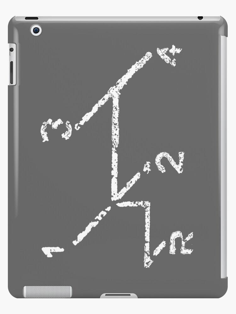 VW iPad case - VW Gear Shift - White on Grey by melodyart