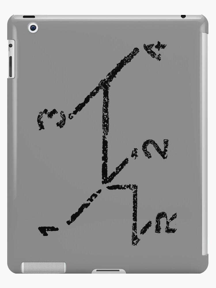 VW iPad case - VW Gear Shift - Black on Grey by melodyart