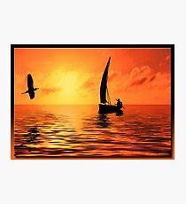 Sailing on the Sea Photographic Print