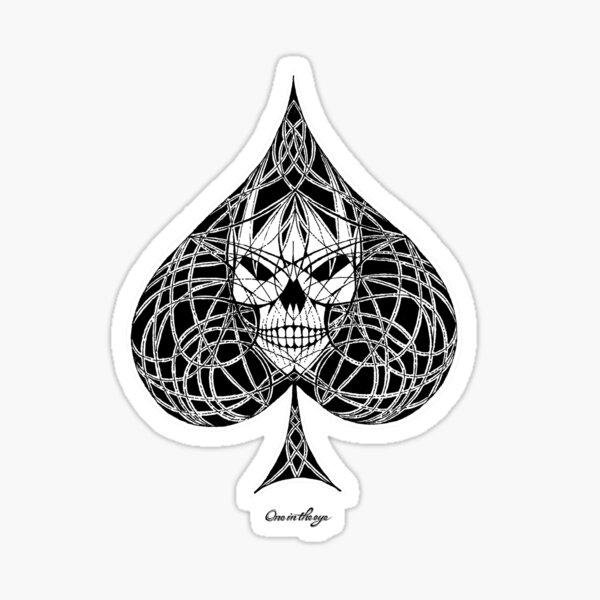 Ace Of Spades Skull Sticker