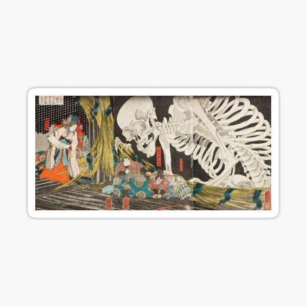 Takiyasha the Witch and the Skeleton Spectre, Utagawa Kuniyoshi, 1844 Sticker