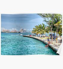 Atlantis view from Arawak Cay in Nassau, The Bahamas Poster