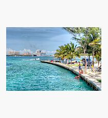 Atlantis view from Arawak Cay in Nassau, The Bahamas Photographic Print