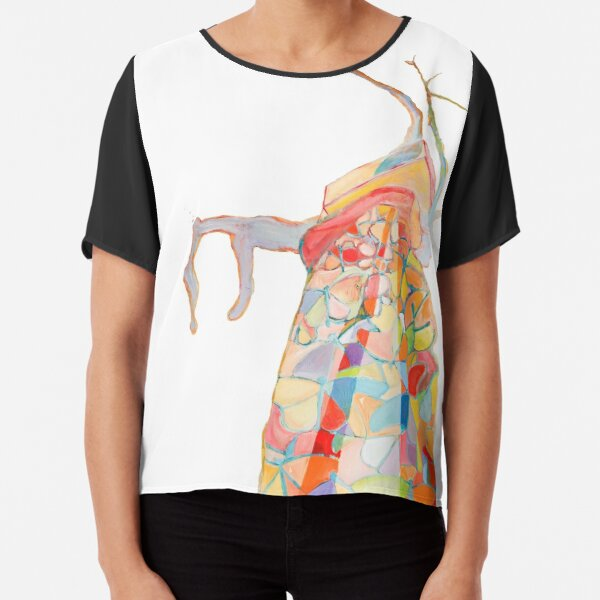 original and colorful. She is passionate about trees Chiffon Top