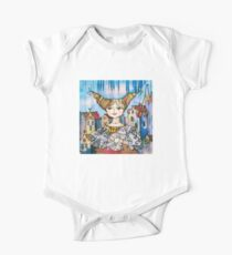 Young Lady with Kitten One Piece - Short Sleeve