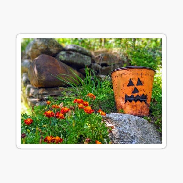 Metal Pumpkin  Sticker