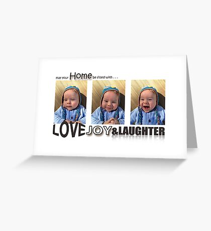 Love, Joy & Laughter Greeting Card