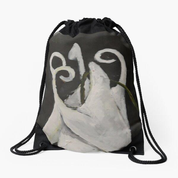columbine flower Drawstring Bag