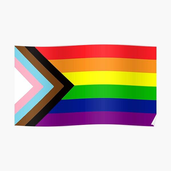 Progress Gay Pride Flag| Gay Pride Shirt| LGBT Rainbow Tee | New Pride Flag Poster