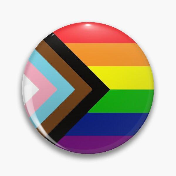 Progress Gay Pride Flag| Gay Pride Shirt| LGBT Rainbow Tee | New Pride Flag Pin