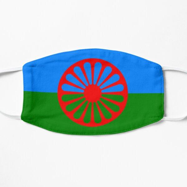 face mask flag of the romani people o styago le romengo Flat Mask