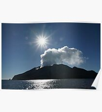 White Island volcano. New Zealand. Poster