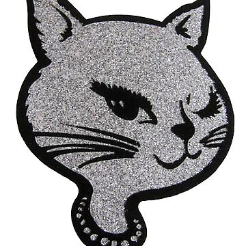 Silver Winking Cat by MohrCreations