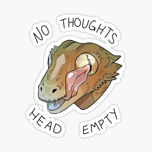 No Thoughts Head Empty Crested Gecko Meme Sticker