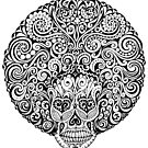 Psychedelic Afro Skull by one-in-the-eye