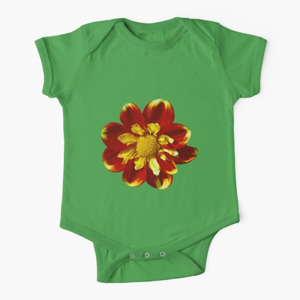 Dahlia Flower Short Sleeve Baby One-Piece