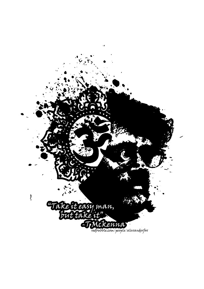 Terrance Mckenna Head Ohm Explosion by Dark Threads