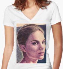 Natalie Portman Women's Fitted V-Neck T-Shirt
