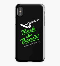 Rock the board - Windsurfing iPhone Case