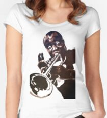 Louis Armstrong Women's Fitted Scoop T-Shirt