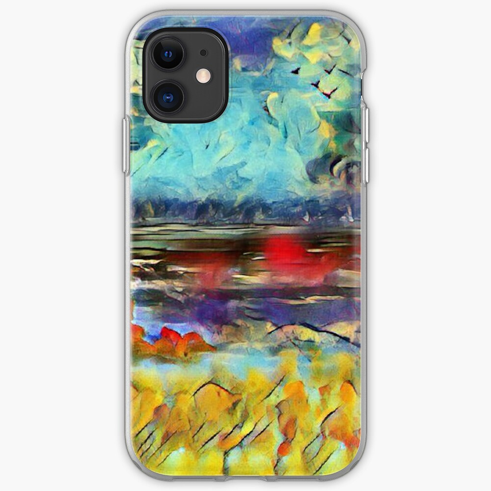 Seascape 1 a lovely original artwork created in acrylic and mixed media with a sprinkling of digital designed by (c) Janet Watson Art xx iPhone Case & Cover