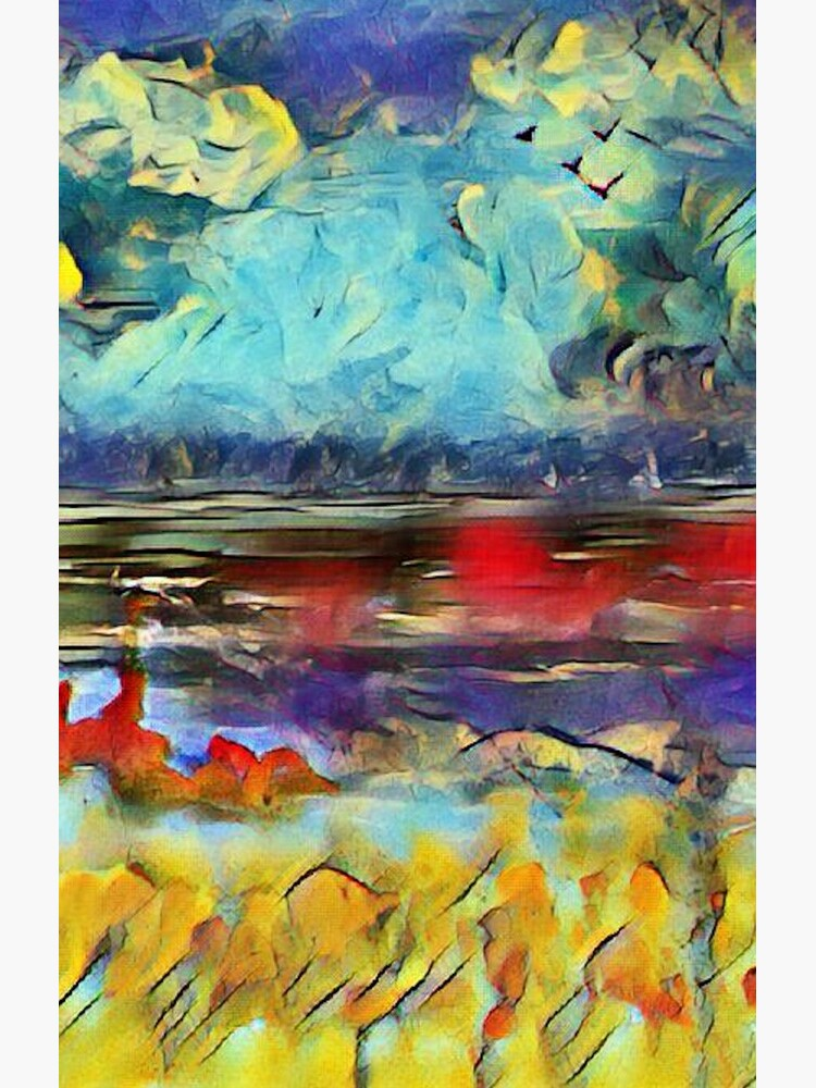 Seascape 1 a lovely original artwork created in acrylic and mixed media with a sprinkling of digital designed by (c) Janet Watson Art xx by JanetWatsonArt