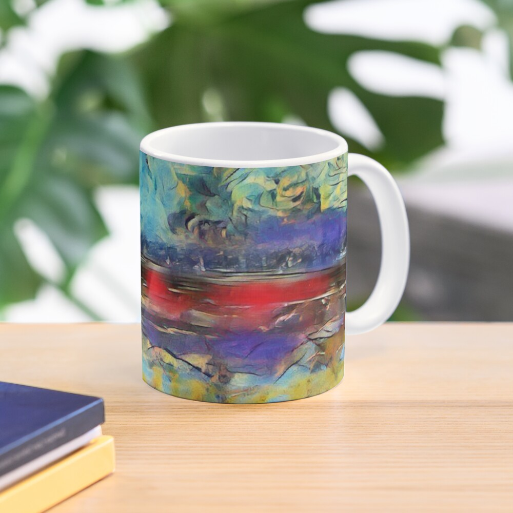 Seascape 1 a lovely original artwork created in acrylic and mixed media with a sprinkling of digital designed by (c) Janet Watson Art xx Mug