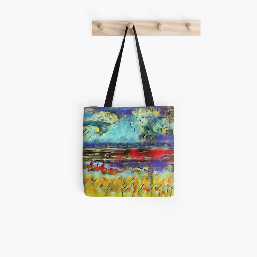 Seascape 1 a lovely original artwork created in acrylic and mixed media with a sprinkling of digital designed by (c) Janet Watson Art xx Tote Bag