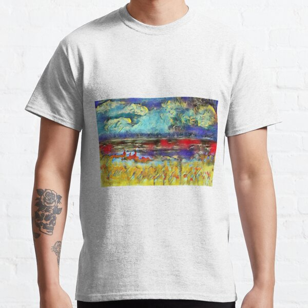 Seascape 1 a lovely original artwork created in acrylic and mixed media with a sprinkling of digital designed by (c) Janet Watson Art xx Classic T-Shirt