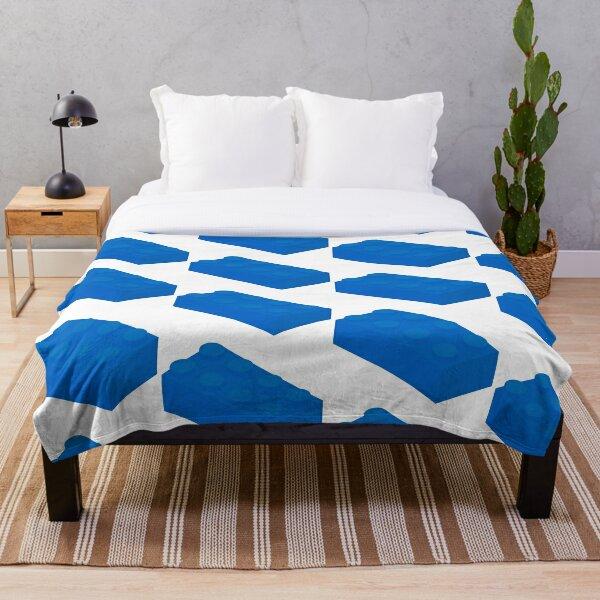 Isometric Blue 2x4 Brick Throw Blanket