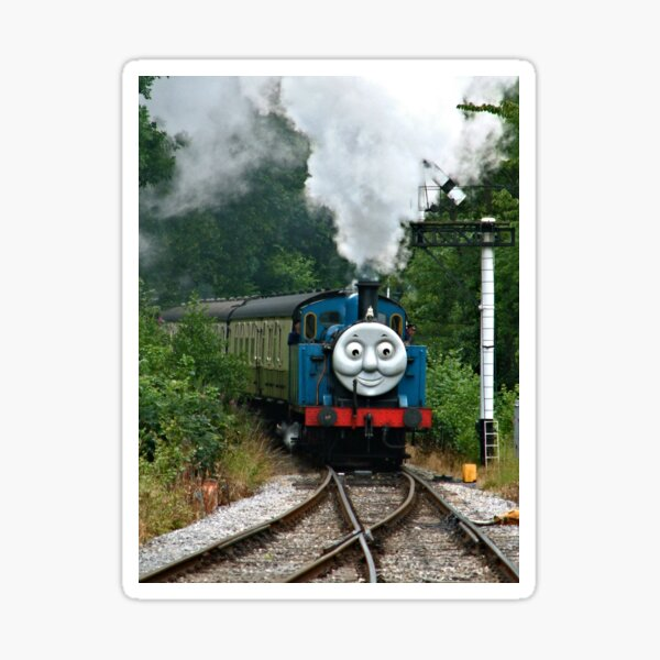 Thomas, Huffing and Puffing up the track Sticker