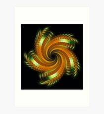 Ribbon Spin Art Print