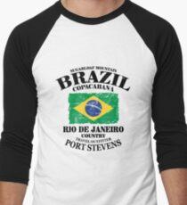 Brazil Men's Baseball ¾ T-Shirt