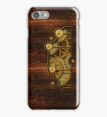 Brass and old wood Steampunk cover iPhone Case/Skin
