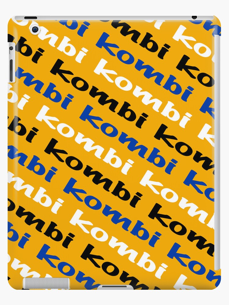 VW iPad case - Kombi Kombi Kombi - Yellow by melodyart