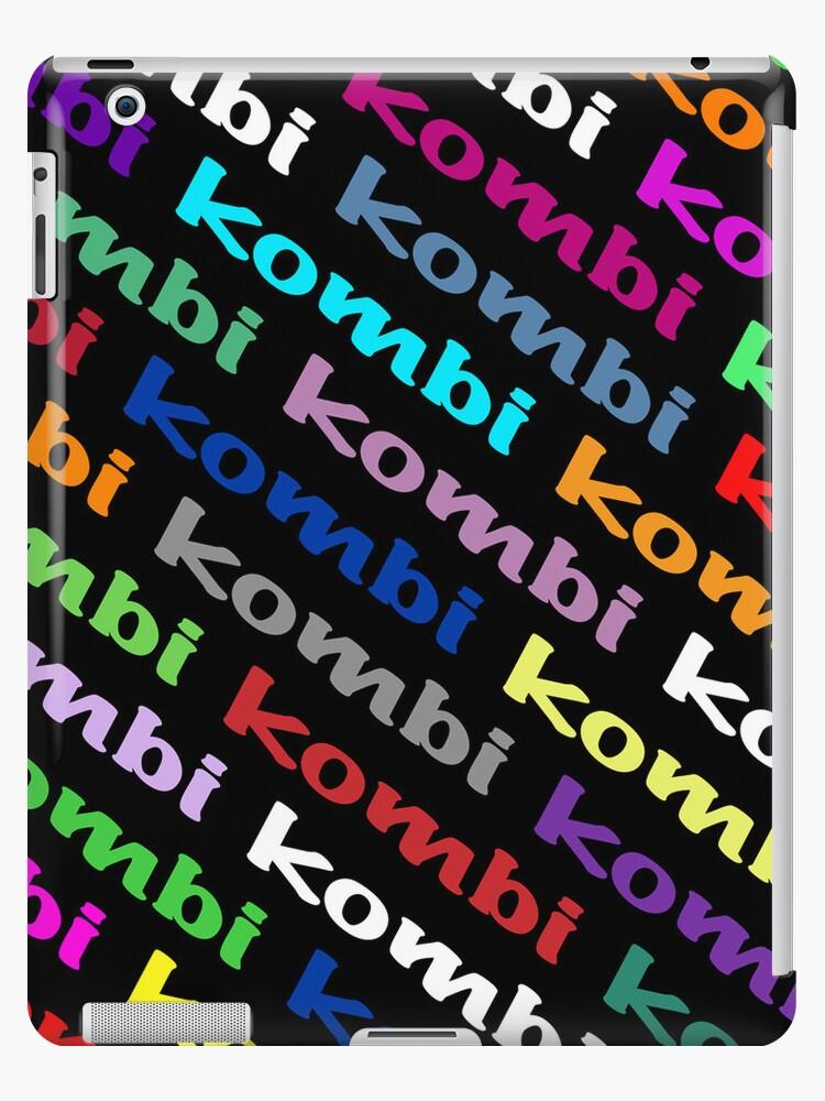 VW iPad case - Kombi Kombi Kombi - on Black by melodyart